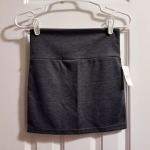 Gray knit mini skirt